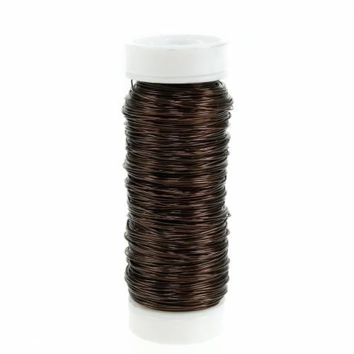 Hilo decorativo esmaltado Ø0,30mm 30g / 50m marrón