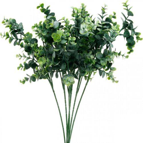 Rama de eucalipto decorativa verde oscuro Eucalipto artificial Plantas verdes artificiales