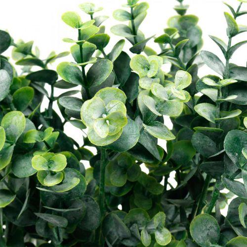 Rama de eucalipto decorativa verde oscuro eucalipto artificial plantas verdes artificiales 6 piezas