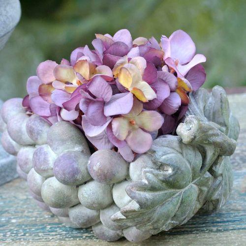 Cuenco decorativo uvas gris violeta crema 19 × 14cm H9.5cm