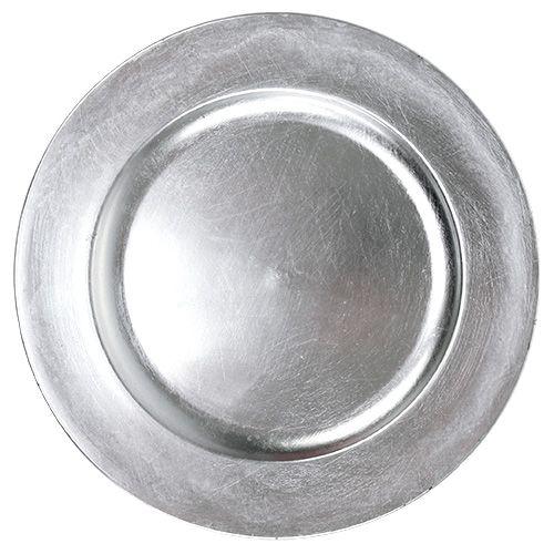 Plato decorativo plata Ø28cm