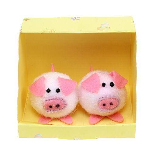 Set decorativo de 5cm rosa piggy