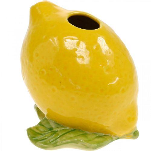 Florero decoración limón florero cerámica verano decoración H11.5cm