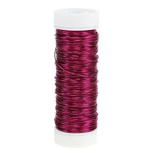 Alambre lacado decorativo Ø0.30mm 30g / 50m rosa