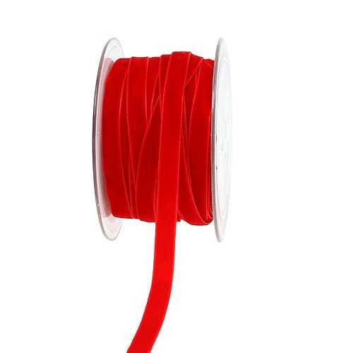 Cinta decorativa Terciopelo rojo 10mm 20m