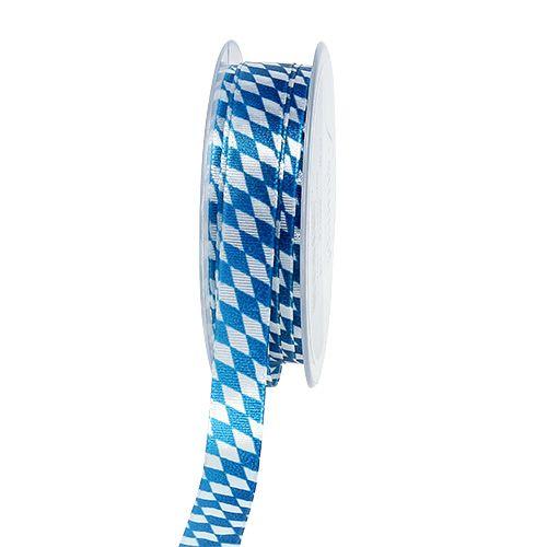 Cinta decorativa azul-blanca 15mm 20m
