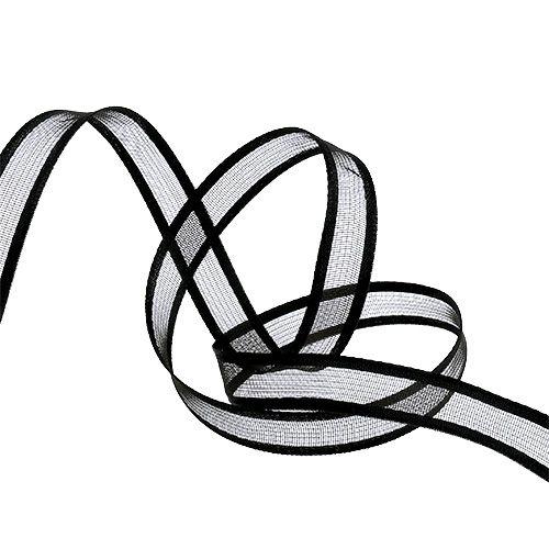 Cinta de regalo para la decoración Negro 15cm 25m