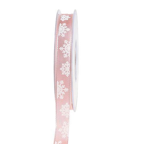 Cinta de regalo para la decoración con borde de alambre Rosa 15mm 20m