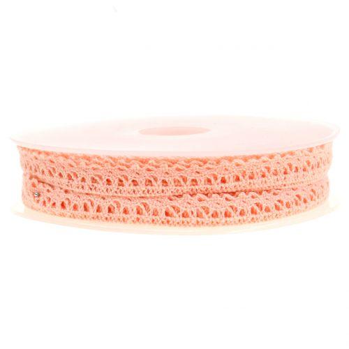Cinta de regalo para la decoración crochet lace salmon 12mm 20m