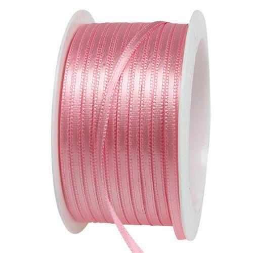 Cinta de regalo y decoración 3mm x 50m rosa pastel