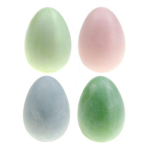 Huevos de Pascua surtido colores pastel H10cm 8pcs