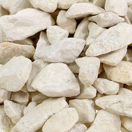 Piedras decorativas 9mm - 13mm 2kg crema