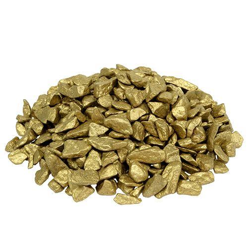 Piedras decorativas 9 mm - 13 mm 2 kg de oro amarillo