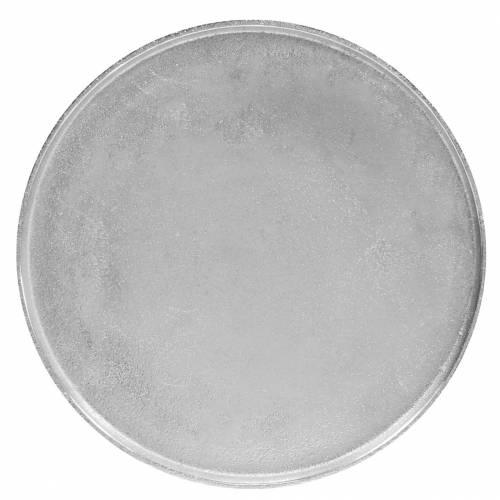 Plato decorativo arcilla Ø31cm plata