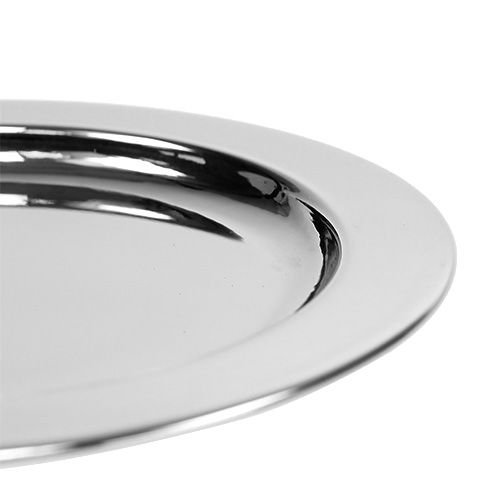 Plato decorativo de metal Ø10.5cm plata