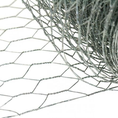Alambre trenzado hexagonal, plateado galvanizado, alambre conejo 50cm × 10m