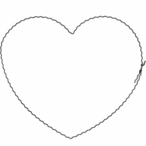 Corazones de alambre 20cm anillos de onda corona aros corazón 10 piezas