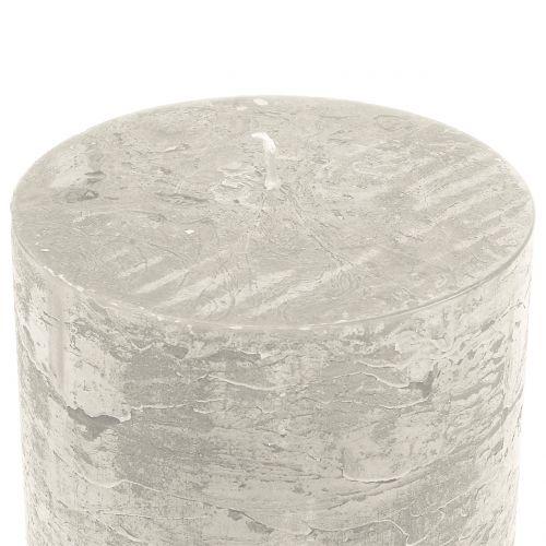 Velas de colores gris 60x100mm 4pcs