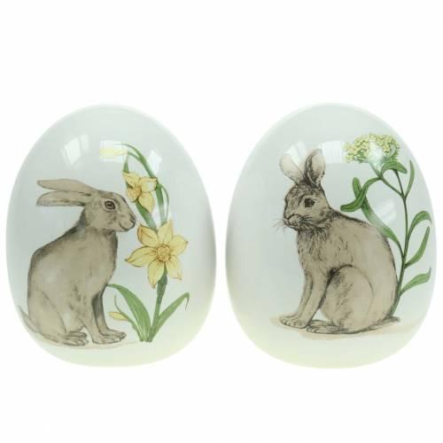 Clara de huevo con motivo de conejo Ø12,5cm H16cm 2pcs