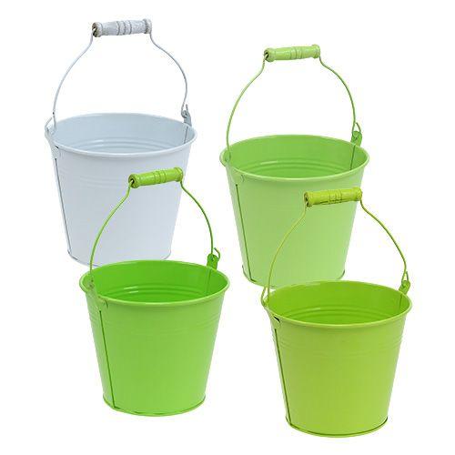 Cubo mezcla verde Ø14cm H12cm 6pcs
