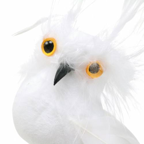 Deco enchufe Owl White 5cm 4pcs