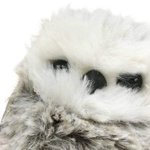 Peluche búho 7cm gris blanco 2pcs