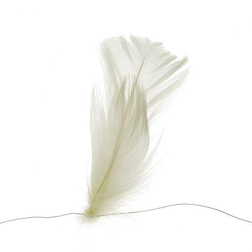 Pluma sobre alambre crema 10m