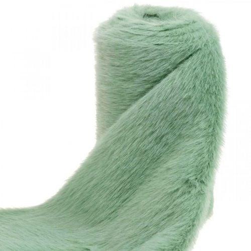 Cinta de pelo decorativa verde camino de mesa de piel sintética de piel de menta 15 × 150cm
