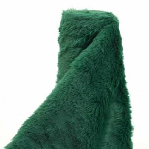 Cinta decorativa de pelo verde oscuro 20cm x 200cm