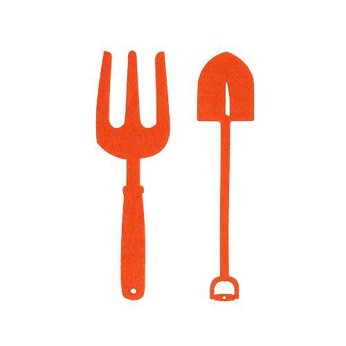 Herramienta de jardín de fieltro naranja 6 piezas