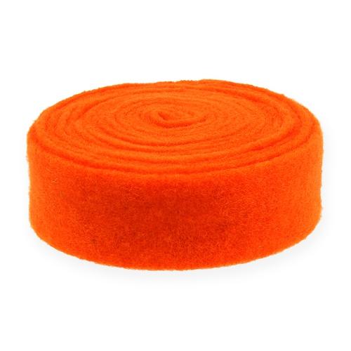 Cinta de fieltro naranja 7,5cm 5m