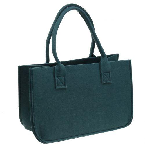 Bolso de fieltro azul gris 40cm x 20cm x 25cm