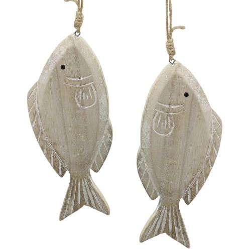 Decoración para colgar woodfish 21cm 2pcs