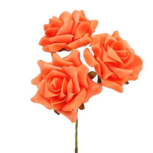 Espuma Rosa Ø 10cm Naranja 8pcs