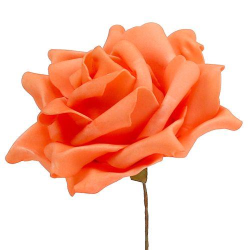 Rosas de espuma naranja Ø15cm 4pcs