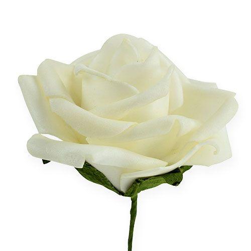 Foam-Rose Ø6cm crema 27pcs
