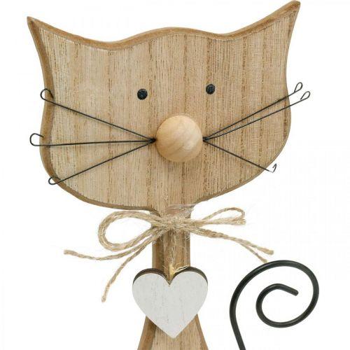 Figura de primavera, decoración de gato, figura de madera, decoración de mesa, decoración de casa de campo 2 piezas