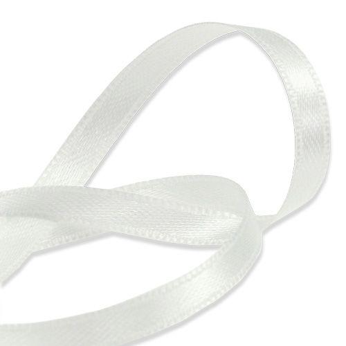 Cinta de regalo y decoración blanca 6mm 50m