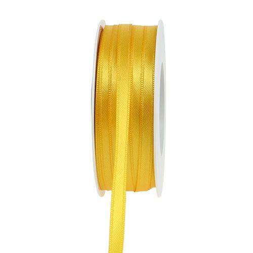 Cinta de regalo amarilla 6 mm x 50 m