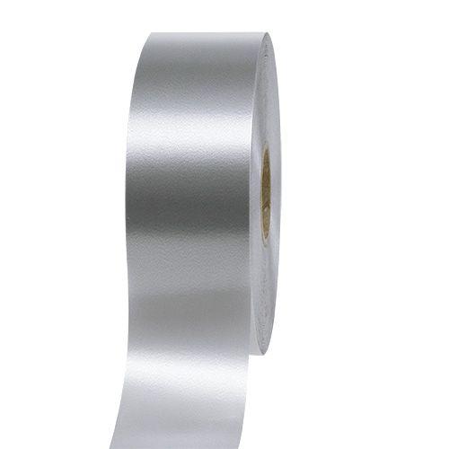 Cinta de regalo plata 50mm 100m