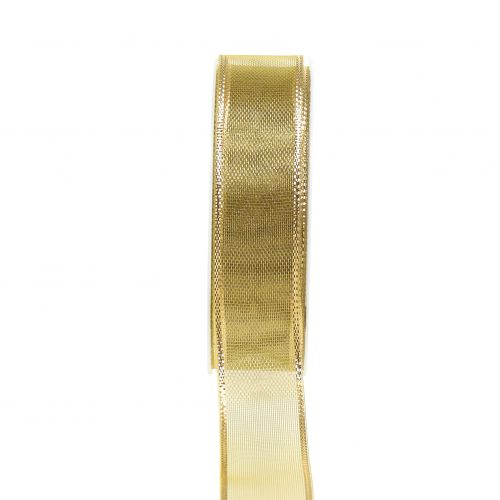 Cinta de regalo Gold Ringeleffekt 25mm 25m