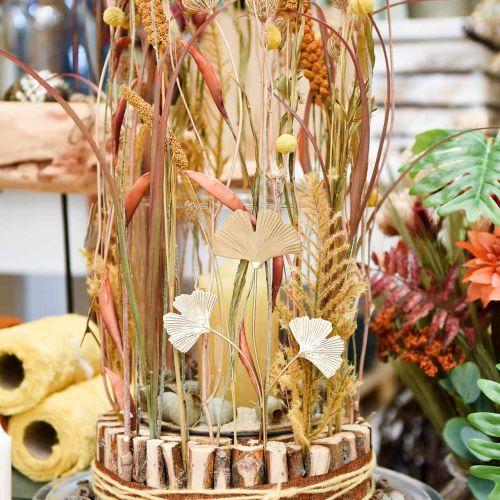Enchufe decorativo de metal rama Ginkgo Ginkgo Golden 14 × 28cm 6pcs