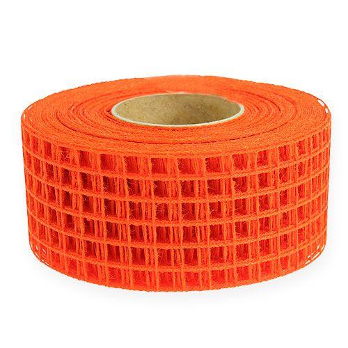 Cinta cuadrícula 4,5cm x 10m naranja