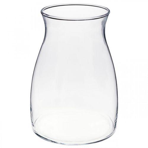 Florero de vidrio decorativo florero transparente vidrio Ø11cm H20cm