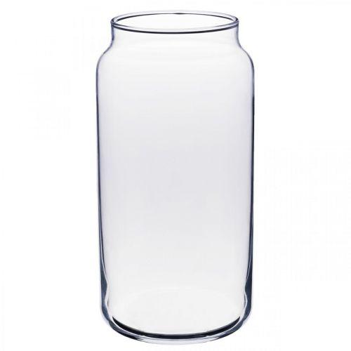 Florero de vidrio florero de vidrio transparente decoración de mesa Ø8cm H20cm
