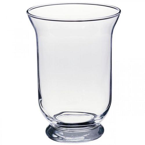 Florero de vidrio transparente Ø13.5cm H19.5cm florero decorativo de vidrio