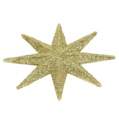 Estrella purpurina oro Ø10cm 12pcs