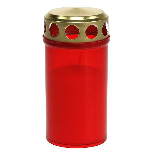 Grab vela cilíndrica roja Ø6cm H12cm 12pcs