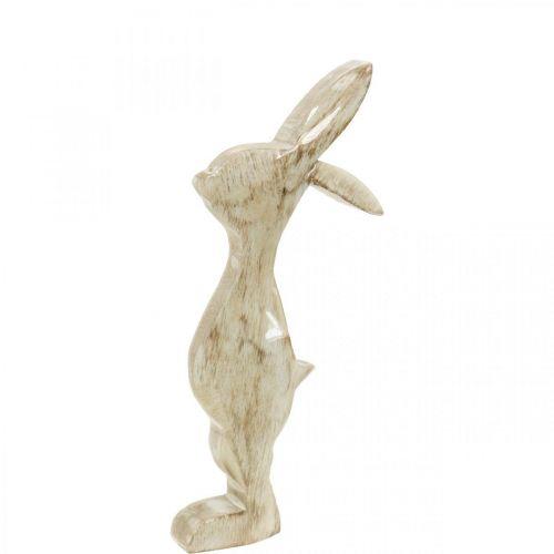 Conejito de madera, primavera, decoración de Pascua, conejito decorativo Al 25cm
