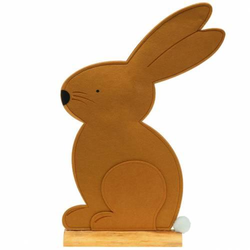 Conejo decorativo sentado fieltro marrón claro 40cm x 7cm H61cm Decoración de Pascua, escaparate